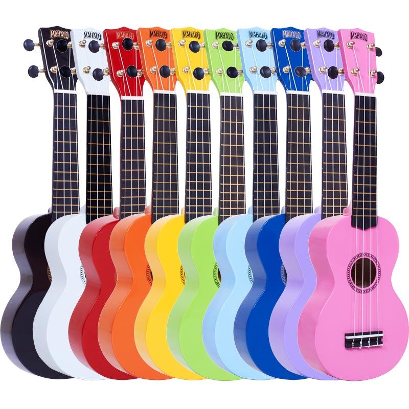 Mahalo Ukuleles Rainbow Series
