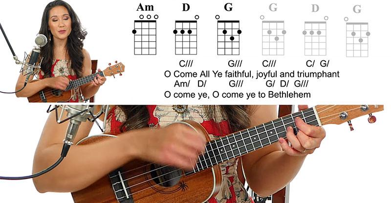 Christmas carols for ukulele